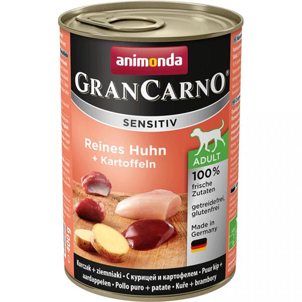 ANIMONDA GranCarno Sensitive Adult puszki czysty kurczak ziemniak 400 g