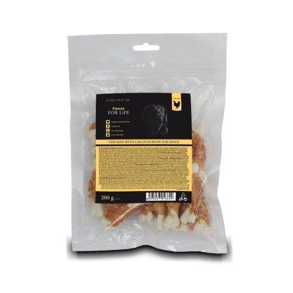 FITMIN FFL dog treat chicken with calcium bone 200g