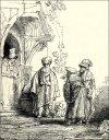Three Oriental Figures, Rembrandt - plakat