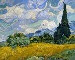 Pole pszenicy z cyprysami, Vincent van Gogh - plakat