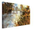 Bridge at Autumn Morning - obraz na płótnie