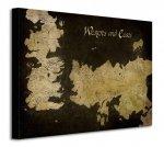 Gra o Tron - Game of Thrones (Westeros and Essos Antique Map) - Obraz na płótnie