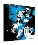Captain America (Splatter) - Obraz na płótnie