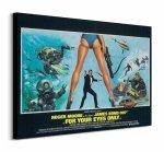 James Bond (For your eyes only Legs) - Obraz na płótnie