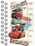 Naklejka miarka wzrostu Cars Disney AUTA