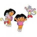 Naklejki piankowe z Dora i Butkiem