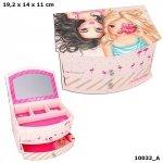 Szkatułka pudełko na biżuterię Tropical Flamingo 10032 Top Model z lusterkiem
