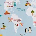 Tapeta Wesoła Mapa Świata Rasch 613315