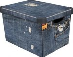 Pojemnik pudełko na zabawki Jeans 213241