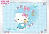 Fototapeta na flizelinie Hello Kitty Niebieskie Serduszko XXL