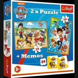 Puzzle Psi Patrol na ratunek  2w1 Memory 90790 TREFL