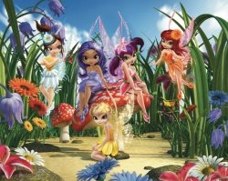 Tapeta 3D Czarodziejki Wróżki Fairies