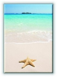 Rozgwiazda na plaży - Obraz na płótnie