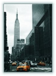 Yellow taxis on 35th street, New York - Obraz na płótnie