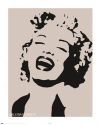 Marilyn Monroe - stencil - plakat