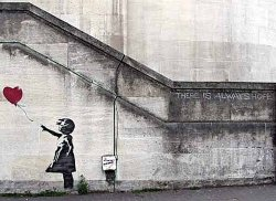 Banksy There is alsways hope - plakat