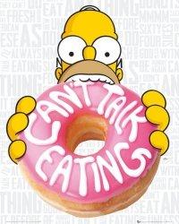 The Simpsons - Nie mogę rozmawiać - plakat