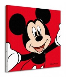 Myszka Miki Mickey Mouse Red - Obraz na płótnie