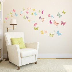 Naklejki Kolorowe Motylki Motyle