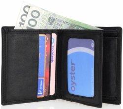 Elegancki portfel męski skóra naturalna RFID NC37