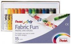 Pentel Fabric Fun pastele do tkanin x15
