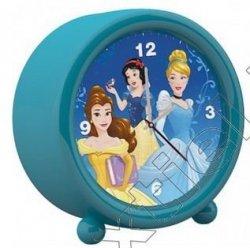 Budzik stojący zegar Księżniczki Disney Princess niebieski