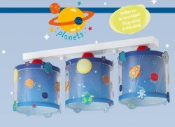 Lampa sufitowa Kosmos Planety Dalber listwa