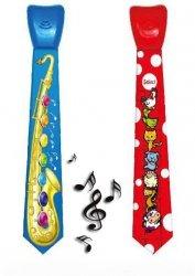 Edukacyjny Grający Krawat dla dziecka - Saksofon, Zwierzęta