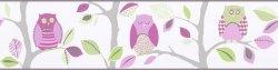 Pasek dekoracyjny 8955-16 sowy Border