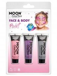 Zestaw farb do twarzy i ciała 3szt pink