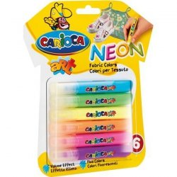Farbki do tkanin 6szt Carioca Fabric Colors neon