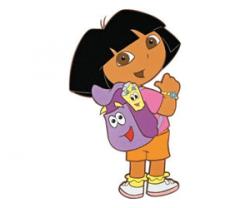 Naklejka piankowa Dora i jej plecak