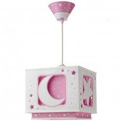Lampa sufitowa Księżyc i Gwiazdki Pink Moon