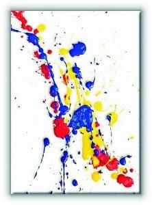Splash Paint. Kolorowa Abstrakcja - Obraz na płótnie