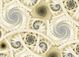 Spiralne fractale - fototapeta