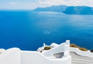 Wyspa Santorini, Grecja - fototapeta