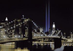 Nowy Jork WTC i Brooklyn Bridge - fototapeta
