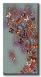 Motyle Mottled Aubergine  - Obraz na płótnie