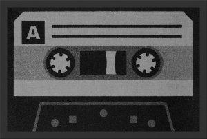 Kaseta Magnetofonowa Czarno-Biała - wycieraczka