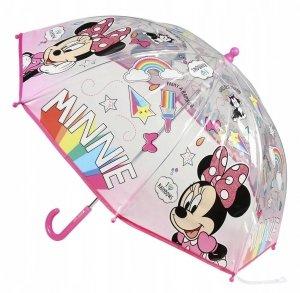 Parasolka Myszka Mini przezroczysta Minnie Mouse New