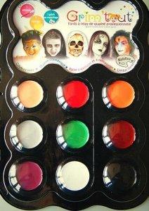 Zestaw farb do malowania twarzy Zjawy Grim'tout