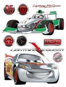 Naklejki Duża Naklejka Cars 2 Auta Francesco