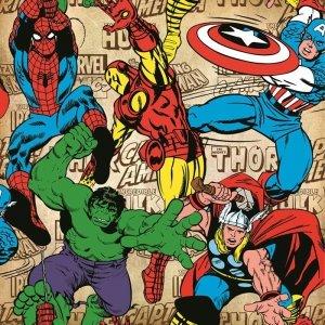 Tapeta Marvel Comics Superheroes Spiderman Iron Man Komiks