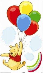 Naklejki Kubuś Puchatek z balonami