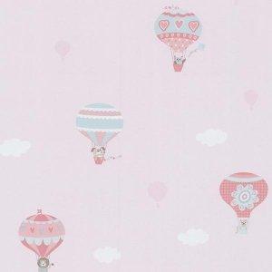 Tapeta 5573-20 HAPPY KIDS 2 Balony i chmurki Pink