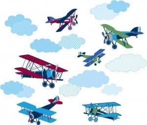 Naklejki Samoloty Dwupłatowce Wall Pops!