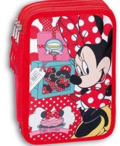 Piórnik potrójny z wyposażeniem Myszka Mini Minnie Mouse Disney Cake