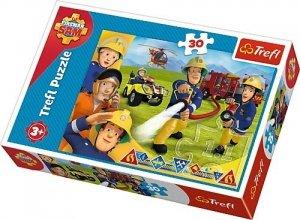 PUZZLE Strażak Sam Gotowi by pomagać 30el Fireman Sam 1824 Trefl