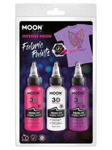 Zestaw farb do tkanin 3x30ml Neon UV