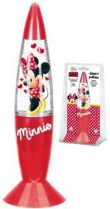 Lampka nocna Myszka Mini Minnie Glitter brokatowa RED Disney